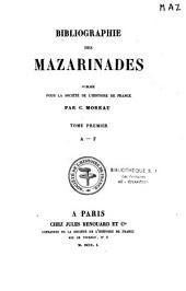 Bibliographie des mazarinades: publiée pour la Société de l'histoire de France