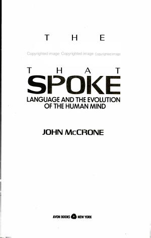 The Ape That Spoke