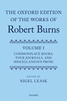 The Oxford Edition of the Works of Robert Burns PDF
