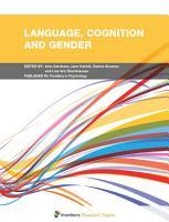 Language  Cognition and Gender PDF