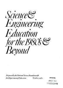 Science   Engineering Education for the 1980 s   Beyond PDF