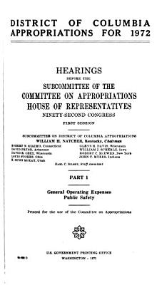 District of Columbia Appropriations PDF