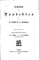 Lehrbuch der Pandekten PDF