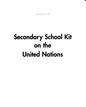 Secondary School Kit on the United Nations