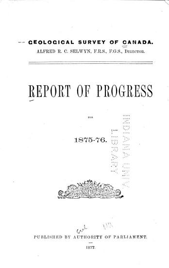 Report of Progress for the Year     PDF