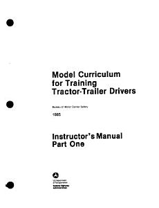 Model curriculum for training tractor trailer drivers PDF