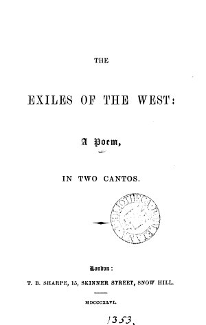 The exiles of the West  a poem