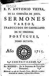 R.P. Antonio Vieyra de la Compañía de Jesús, Sermones varios