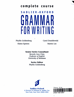 Sadlier Oxford Grammar for Writing PDF