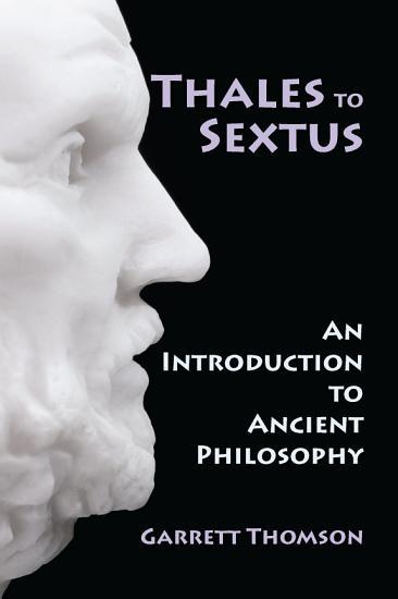 Thales to Sextus PDF
