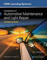 Fundamentals of Automotive Maintenance and Light Repair PDF