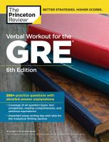 Verbal Workout for the GRE  6th Edition PDF