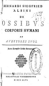 Bernardi Siefried Albini De ossibus corporis humani ad auditoris suos: iuxta exemplar Leidae Batavorum