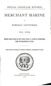 Merchant marine of foreign countries: Reports from consuls of the United States ...