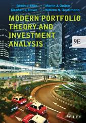 Modern Portfolio Theory and Investment Analysis, 9th Edition: Ninth Edition