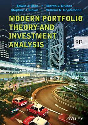 Modern Portfolio Theory and Investment Analysis  9th Edition PDF