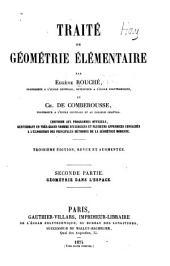 Traité de géométrie élémentaire: Volume1