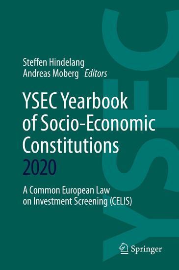 YSEC Yearbook of Socio Economic Constitutions 2020 PDF