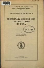 Proprietary Medicine and Ointment Trade in China