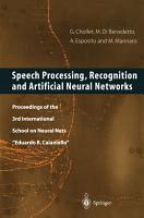 Speech Processing  Recognition and Artificial Neural Networks PDF