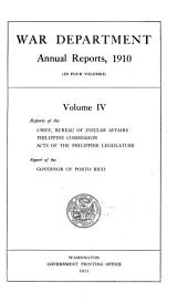 Annual Report of the Secretary of War: Volume 3