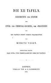 Das Civil- und Criminal-recht der XII Tafeln