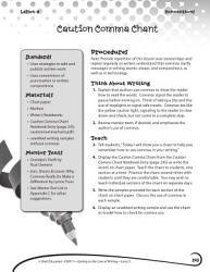 Writing Lesson Level 3 Caution Comma Chant Book PDF