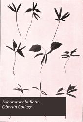 Laboratory Bulletin - Oberlin College: Issue 9