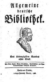 Allgemeine deutsche Bibliothek: Band 70