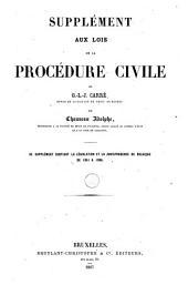 Les lois de la procédure civile,