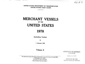 Merchant Vessels of the United States    Book