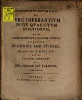 De iure imperantium in ius quaesitum subditorum
