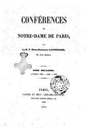 Conférences de Notre-Dame de Paris par Henry-Dominique Lacordaire: Années 1844-1845-1846, Volume2
