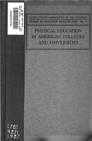Physical education in American colleges and universities PDF