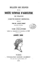 Bulletin des Séances. Compte Rendu Mensuel: Volume50
