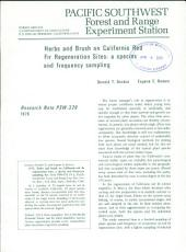 Herbs and brush on California red fir regeneration sites: a species and frequency sampling