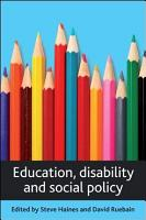 Education  disability and social policy PDF
