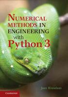 Numerical Methods in Engineering with Python 3 PDF