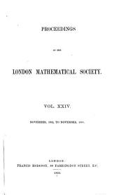 Proceedings of the London Mathematical Society: Volume 24