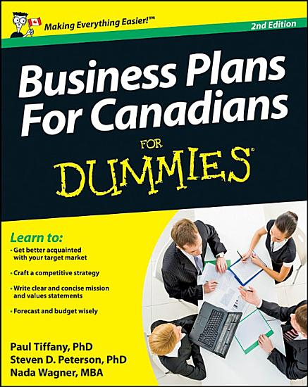 Business Plans For Canadians for Dummies PDF