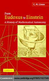 From Eudoxus to Einstein: A History of Mathematical Astronomy