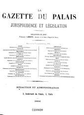 La Gazette du palais: jurisprudence et législation