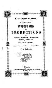 Notice des productions de peinture, sculpture, architecture, gravure, dessin etc. d'artistes vivants, exposés au muséum de l'académie, le 30 juillet 1838