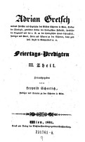 Feiertags Predigten III  Theil PDF