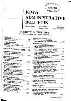 Iowa Administrative Bulletin PDF