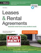 Leases & Rental Agreements: Edition 11
