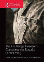 The Routledge Research Companion to Security Outsourcing PDF