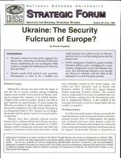 Ukraine  the Security Fulcrum of Europe  PDF