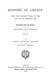 History of Greece: From the Earliest Times to the End of the Persian War, Volume 2