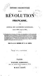 Histoire parlementaire de la révolution française, ou journal des assemblées nationales, depuis 1789 jusqu'en 1815: Volume29